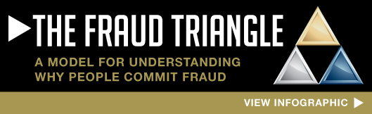 fraud triangle infographic